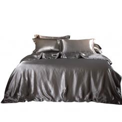 Silke - silkesengetøj med silke pudebetræk - grå