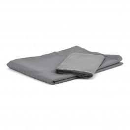 Egyptisk bomuld - sengesæt - 1500 TC - grå med striber