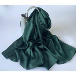 Silke Accessories - Silke tørklæde - Mørk grøn, 90x180 cm